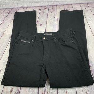 Levi's 505 Straight Leg Jeans Black Size 14M
